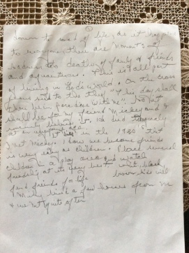 Letter about Papa's friend (1/4)